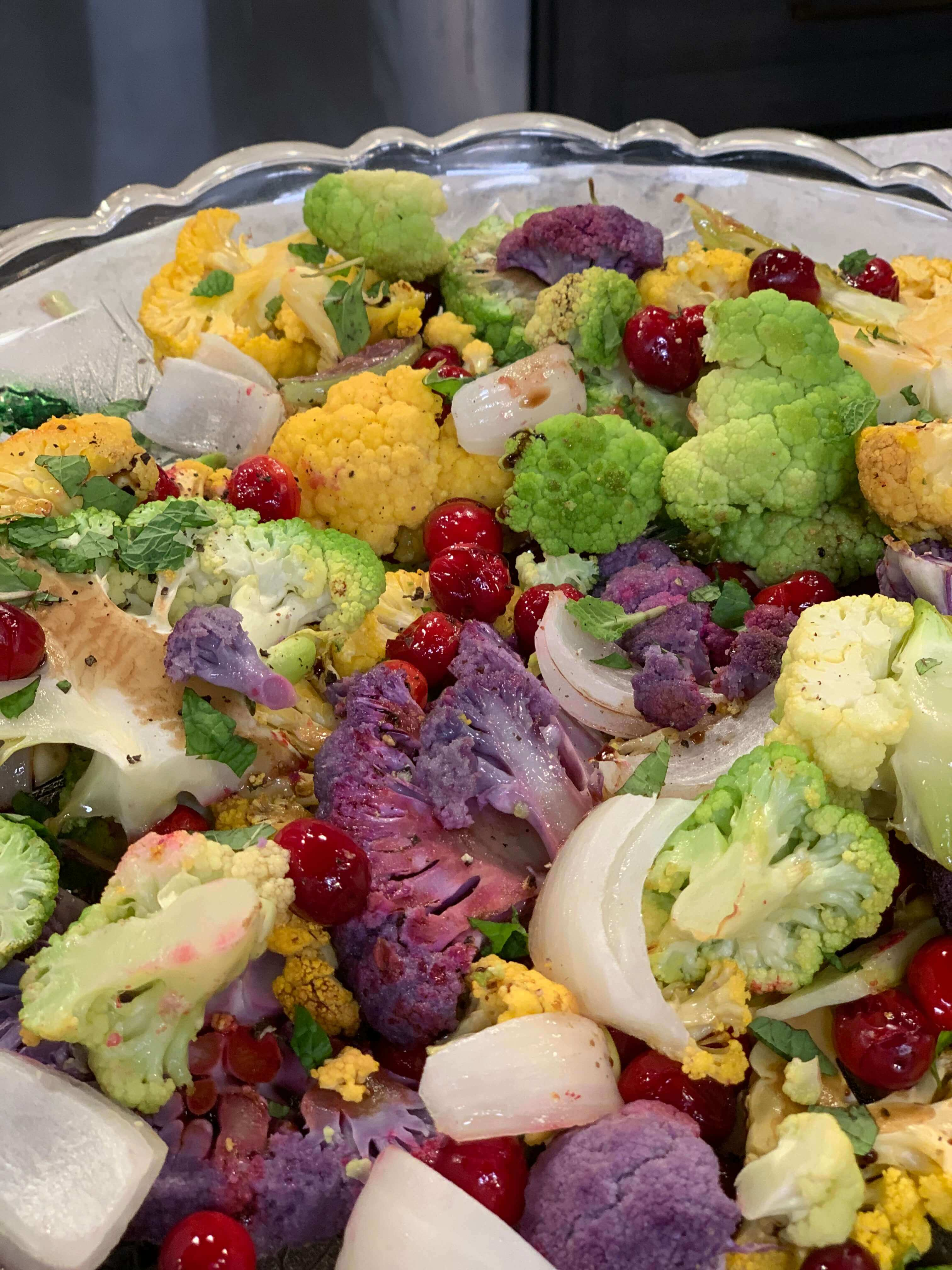 Holiday Recipes: Roasted Cauliflower with Cranberries