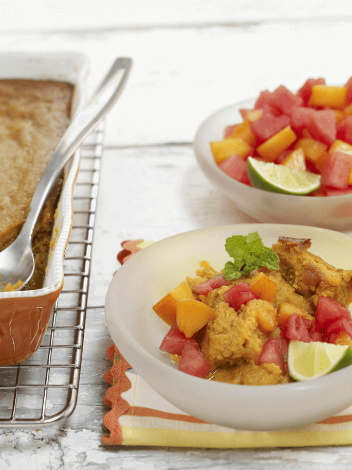 Watermelon Recipes For The Holidays: Sweet Potato Souffle with Watermelon Fig Sauce