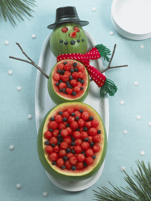 Watermelon Recipes For The Holidays: Watermelon Snowman