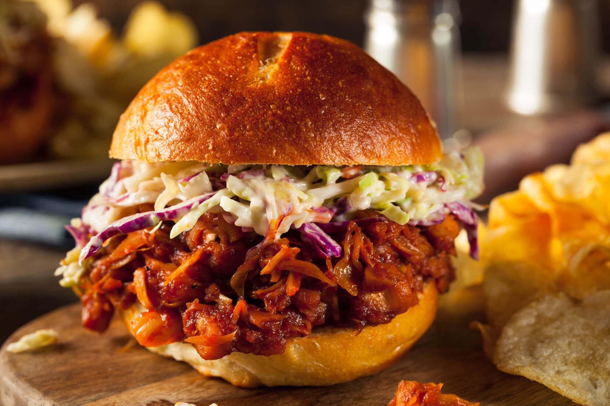 Vegan Pulled Jackfruit BBQ Sandwich