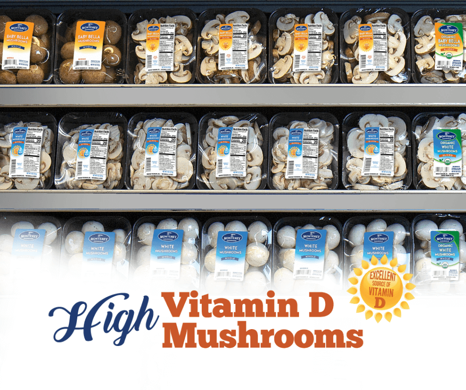 High vitamin D mushrooms