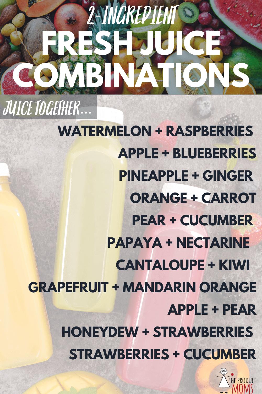 2-Ingredient Fresh Juice Combinations
