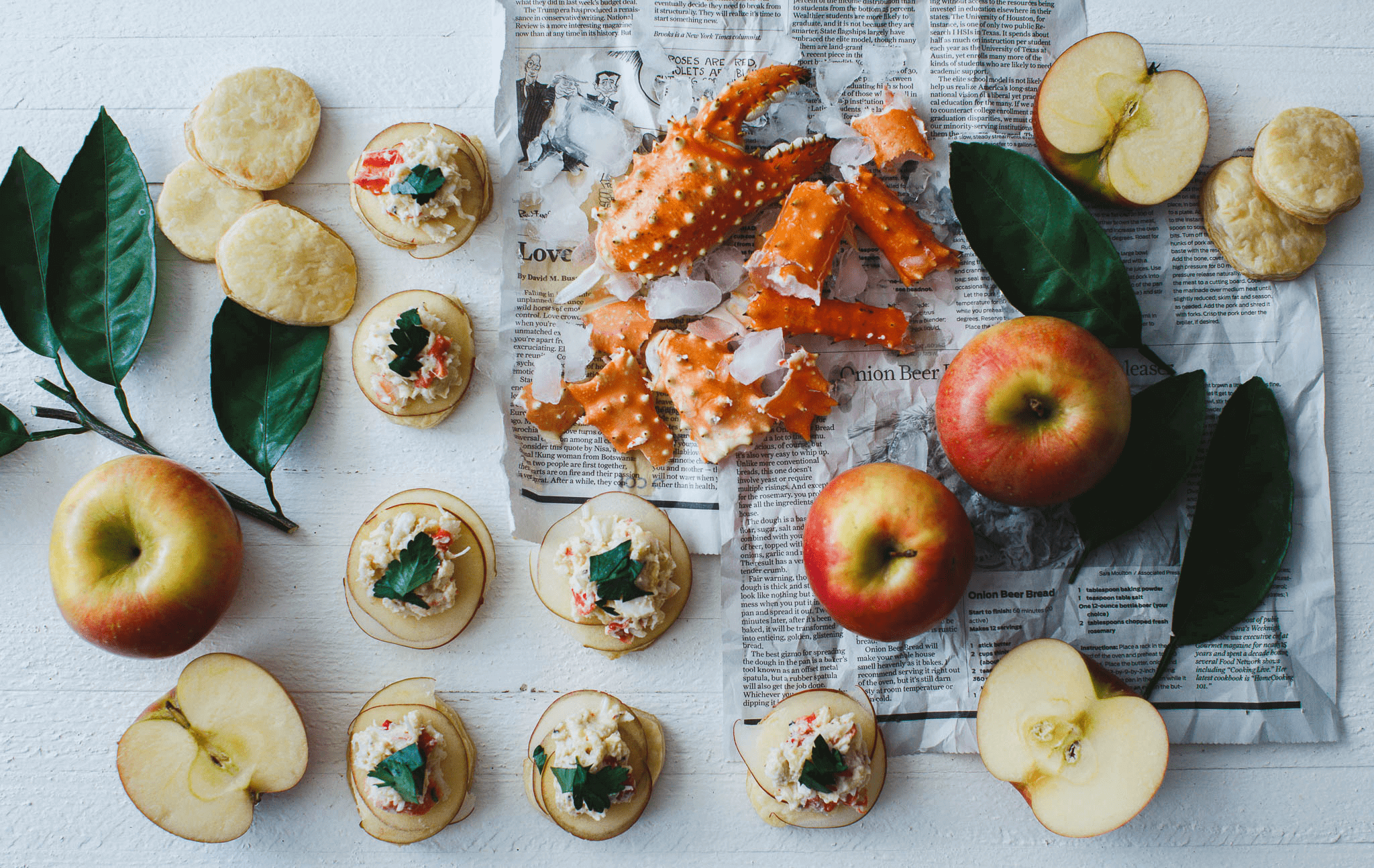 Apple Crab Puffs