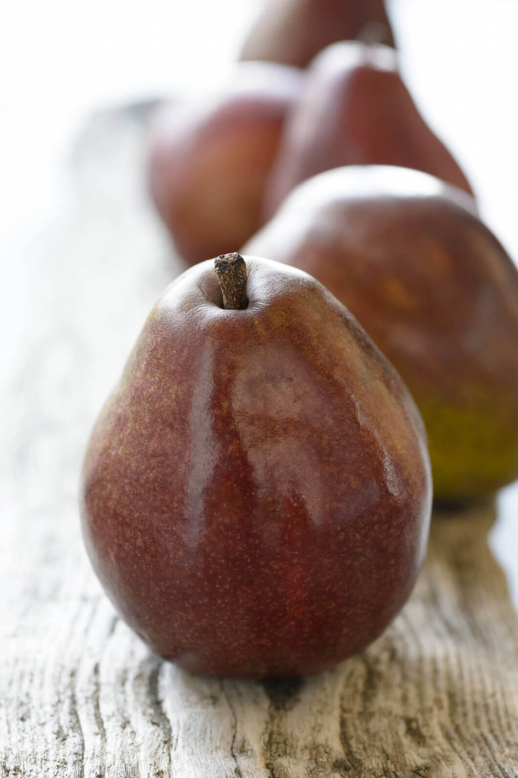 Must-Try Produce Items: red anjou pears