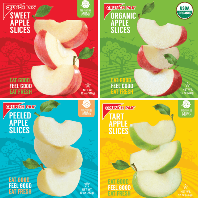 Crunch Pak® and The Produce Moms Co-Branded Apple Slices