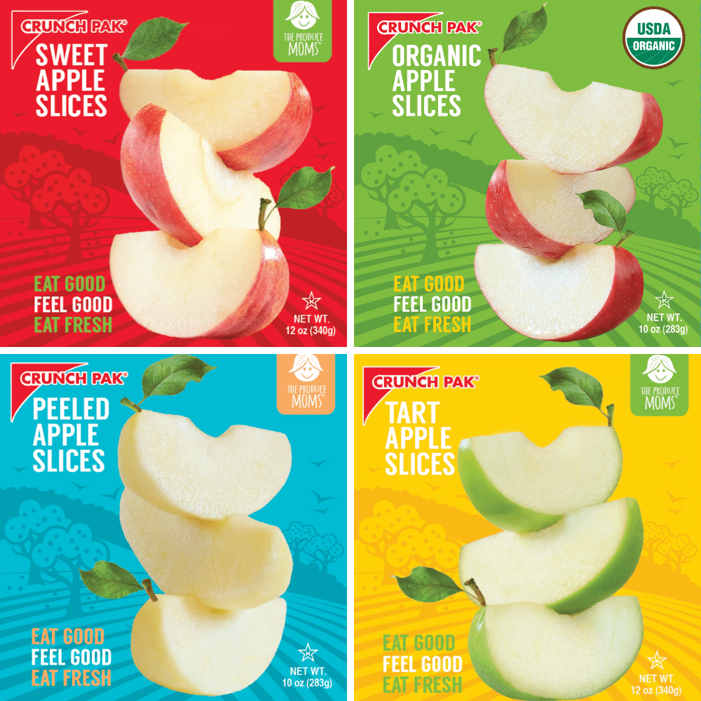 20 Must-Try Produce Items in 2020: Crunch Pak® and The Produce Moms Co-Branded Apple Slices