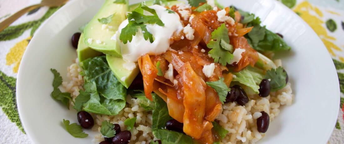 Chili-Lime Jackfruit Burrito Bowls