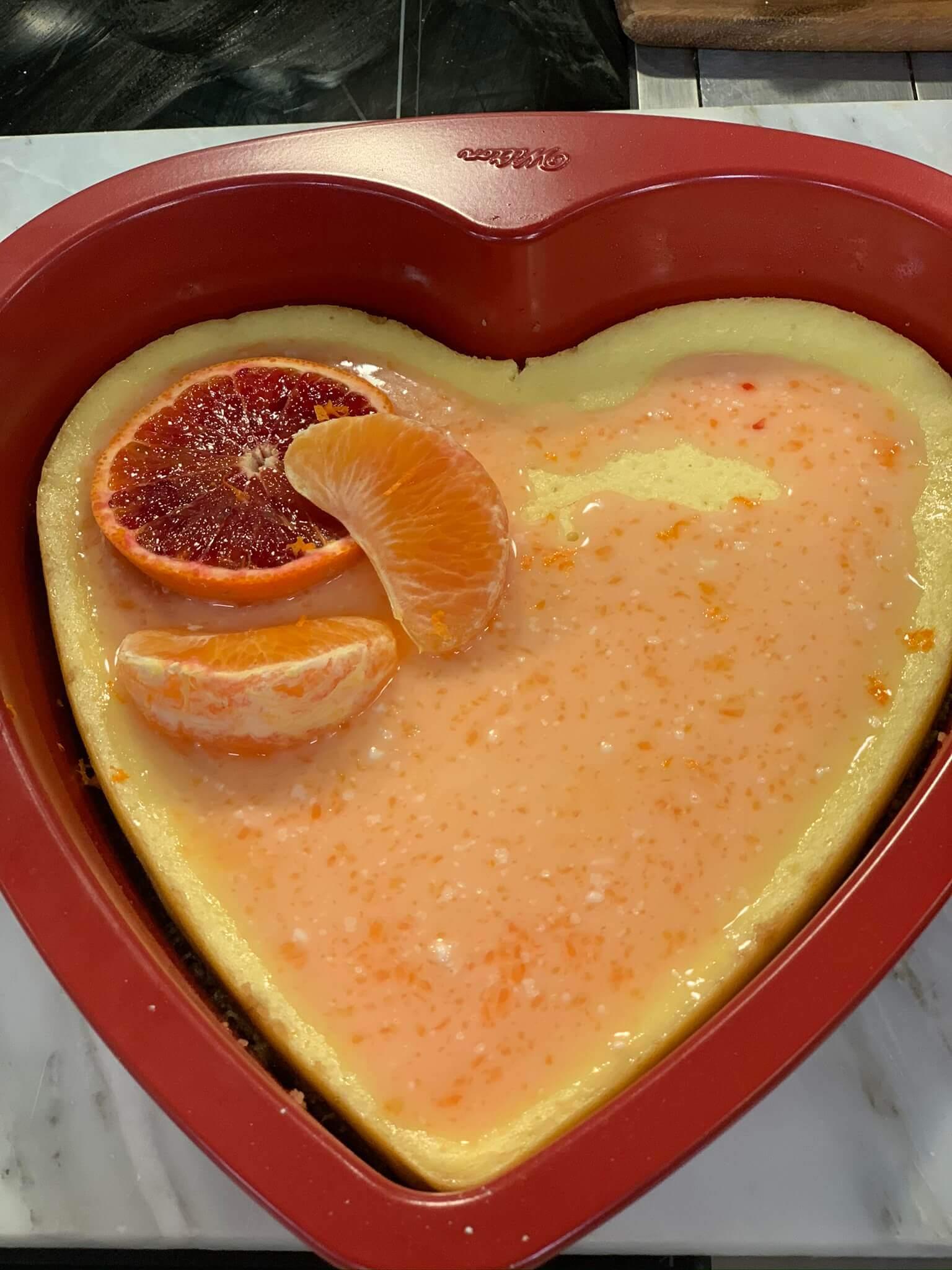 Valentine's Day Recipes: MandaRosa Cheesecake + Grand Marnier Glaze