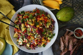 Thai Steak Noodle Salad with Tropical Avocado