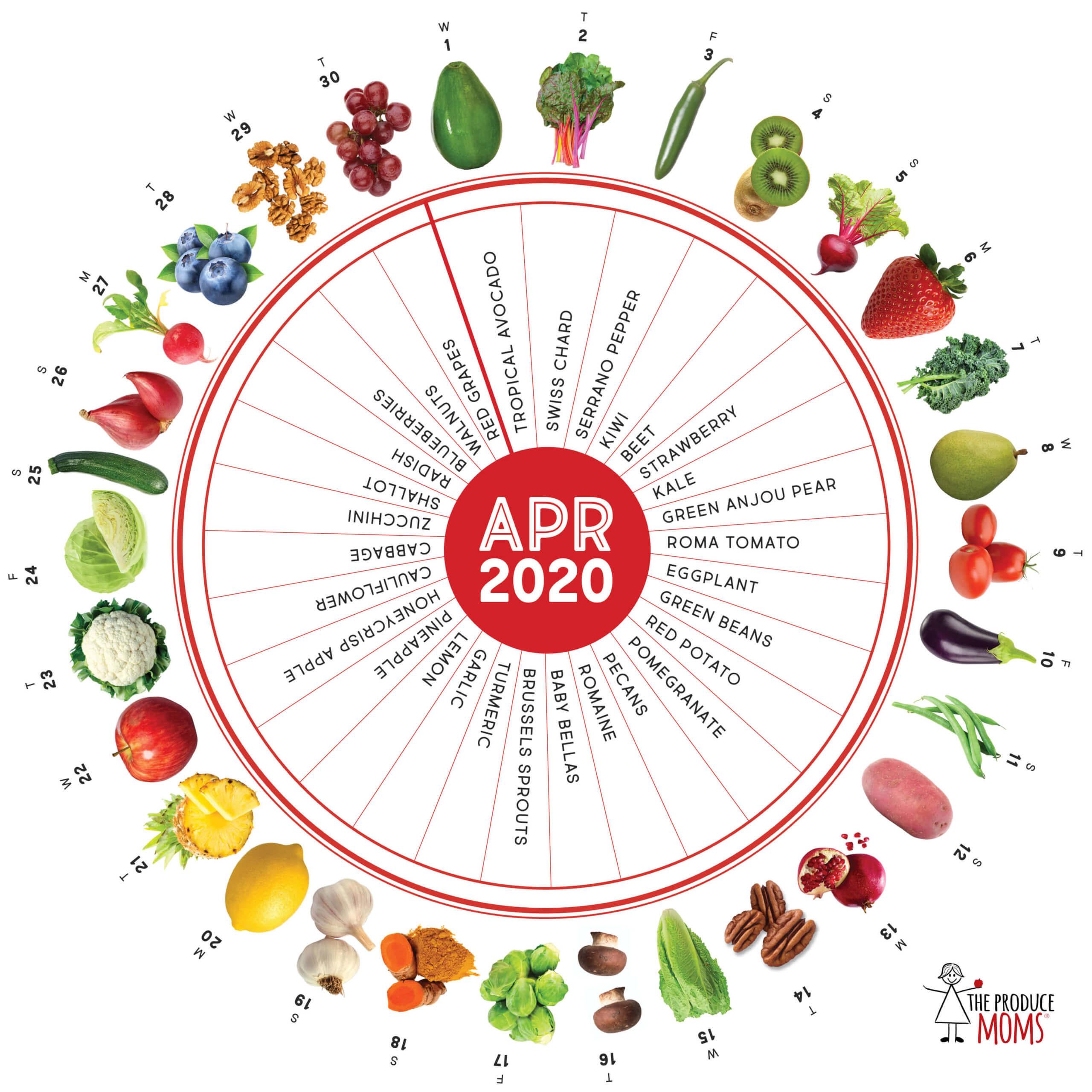 April 2020 Produce Challenge Calendar