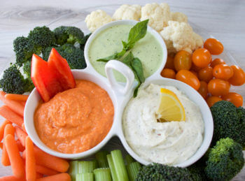 Trilogy of Veggie Dips