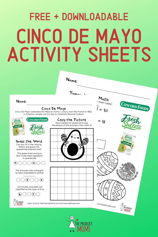 Cinco de Mayo Activity Sheets