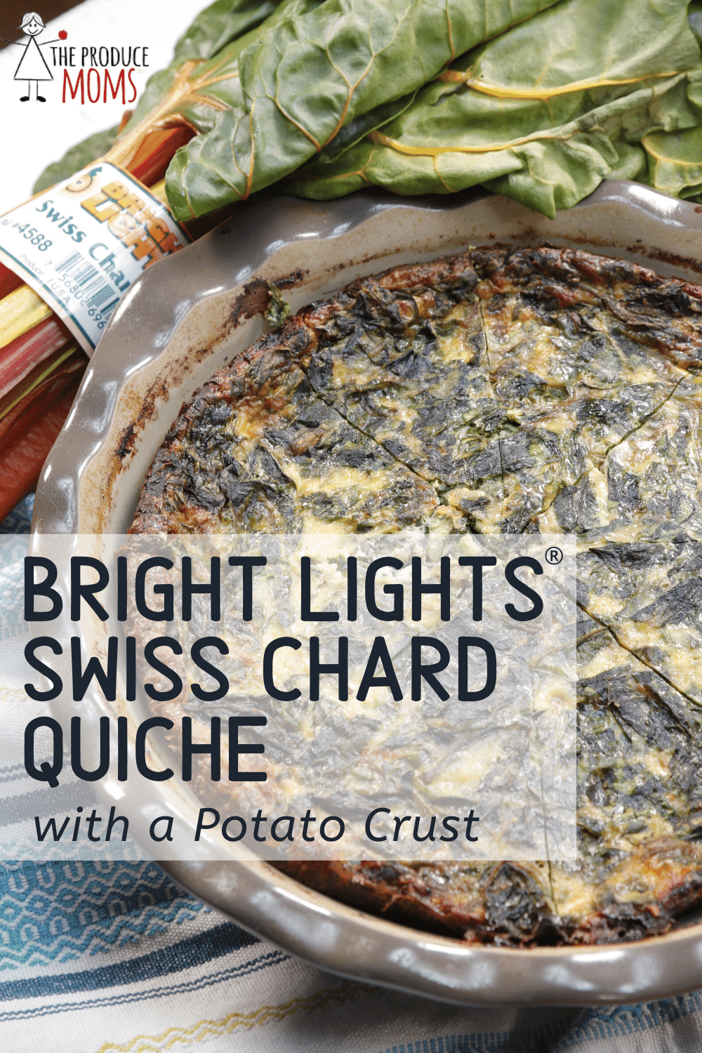 Bright Lights® Swiss Chard Quiche with Potato Crust