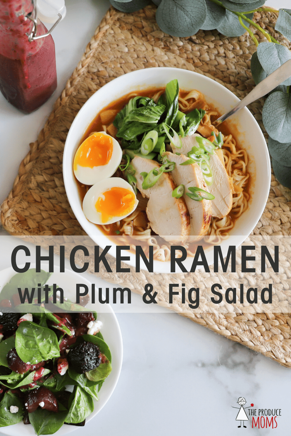 Chicken Ramen with Plum and Fig Salad