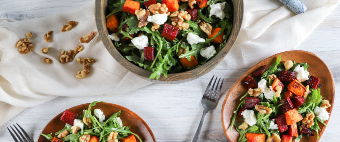 Roasted Sweet Potato & Beet Salad