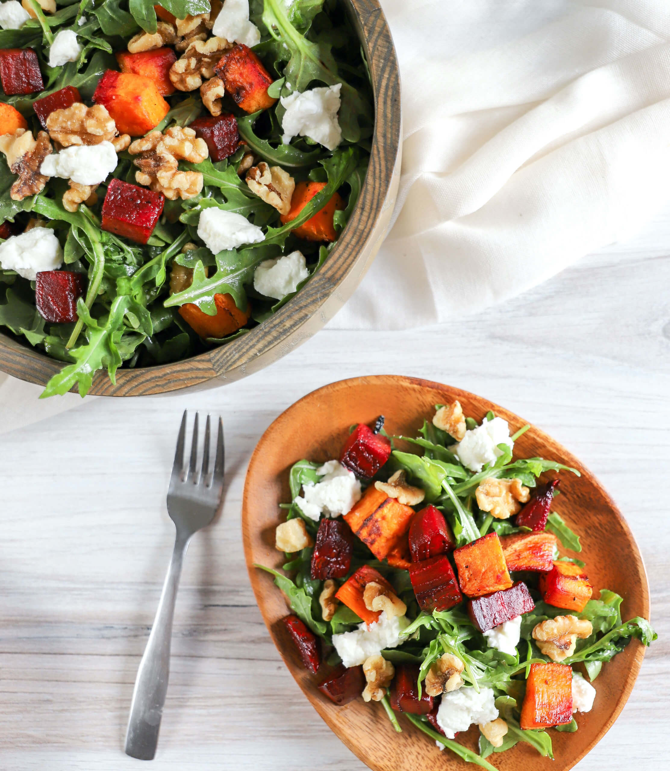 Roasted Sweet Potato & Beet Salad