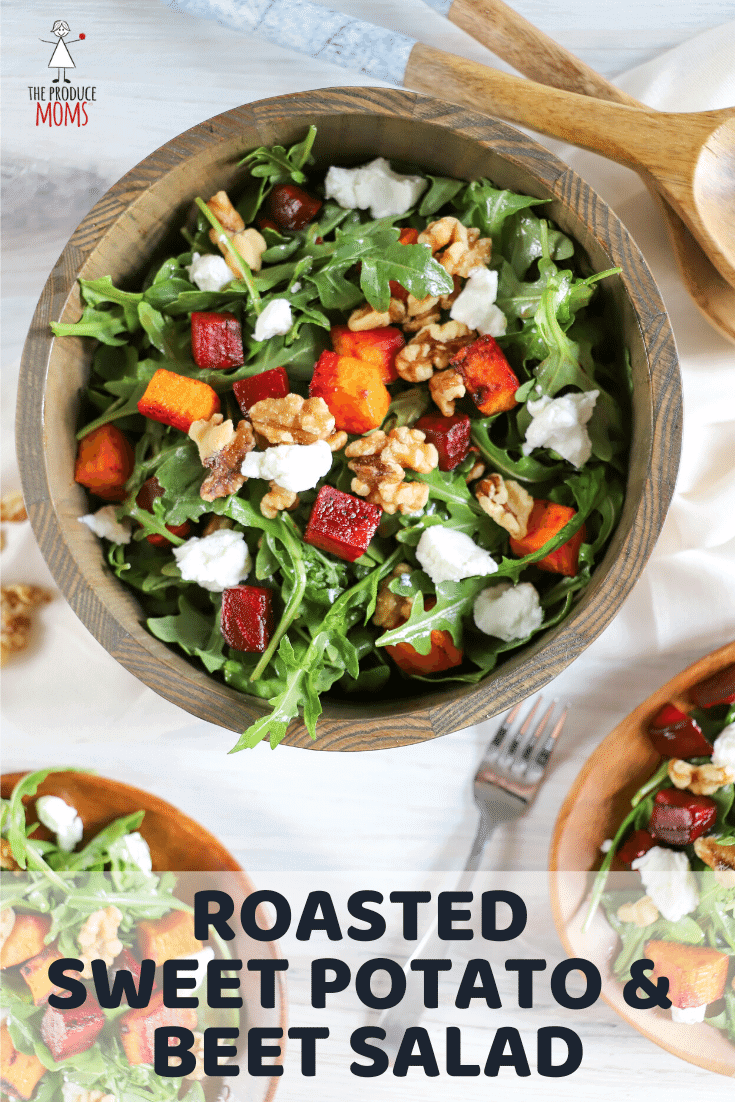 Roasted Sweet Potato and Beet Salad