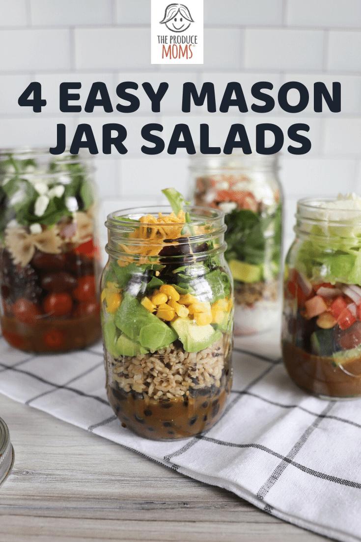 Easy Mason Jar Salads
