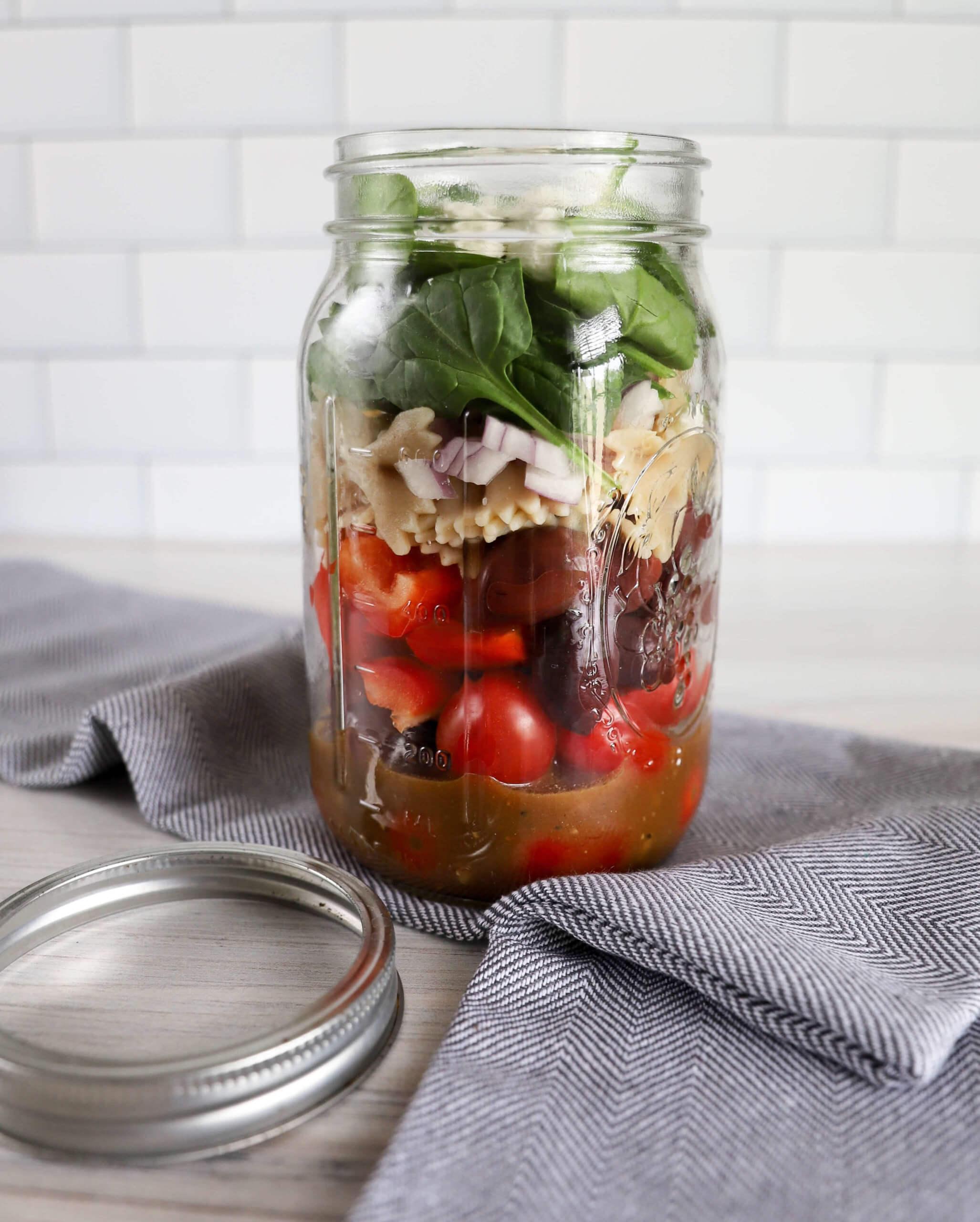 Pasta Mason Jar Salad