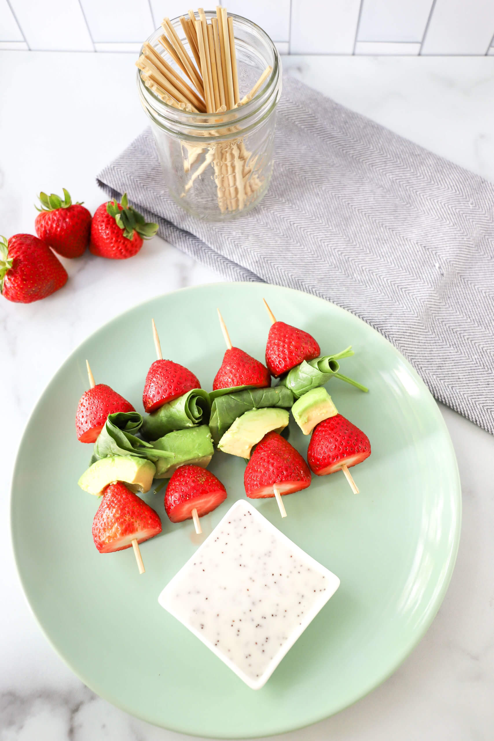Strawberry Salad Kabobs