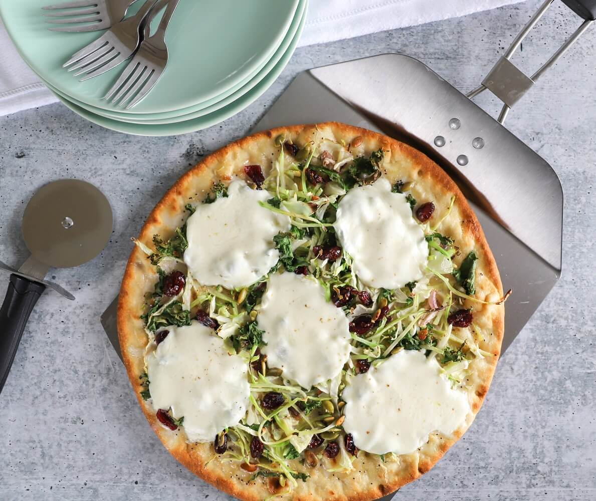 Sweet Kale Flatbread Pizza