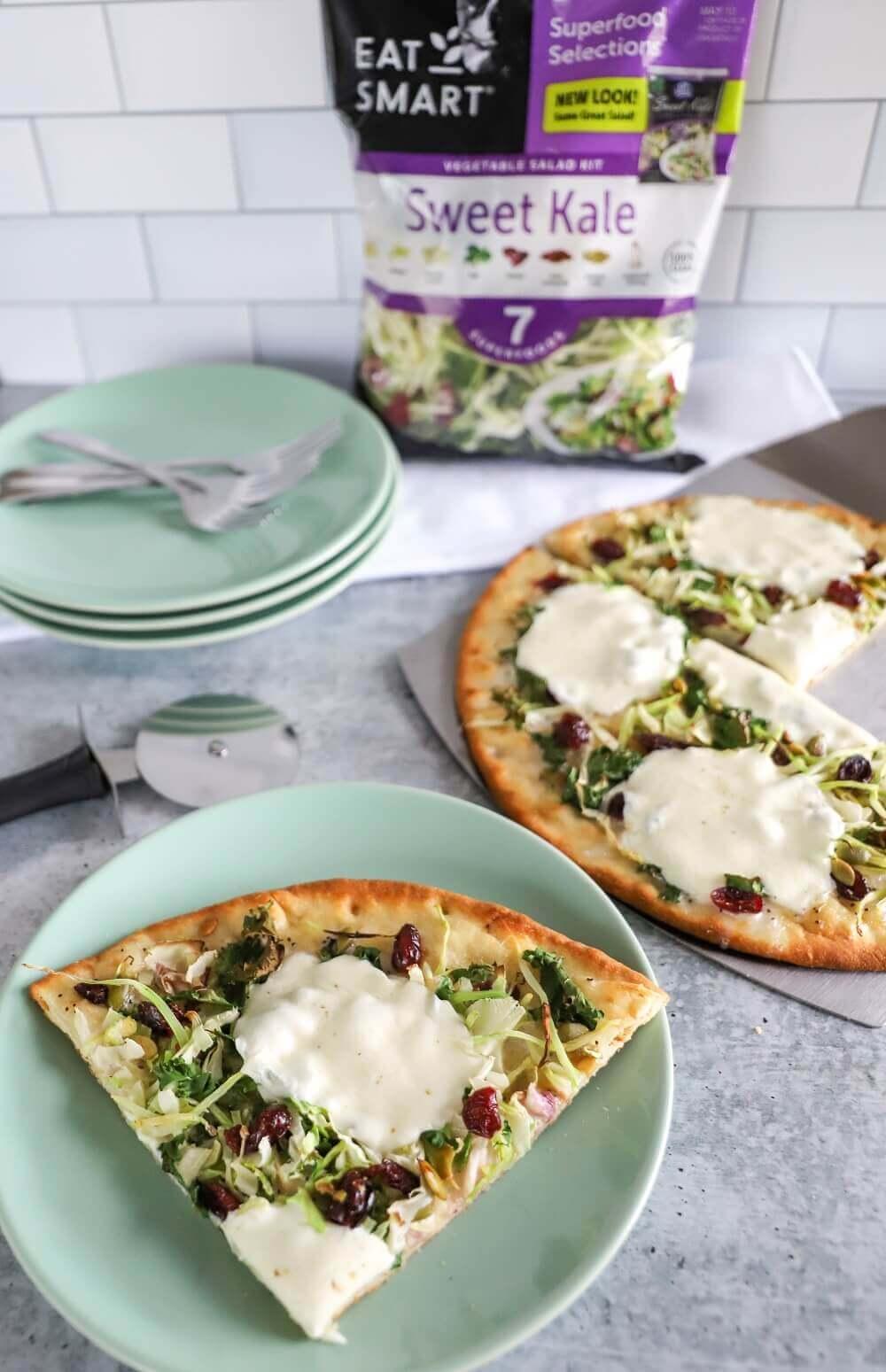 Sweet Kale Flatbread Pizza