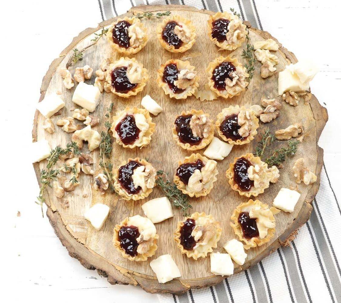 Toasted Walnuts & Blackberry Jam Bites