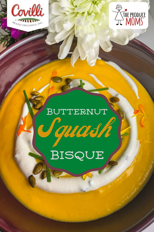 Butternut Squash Bisque Pinterest Card