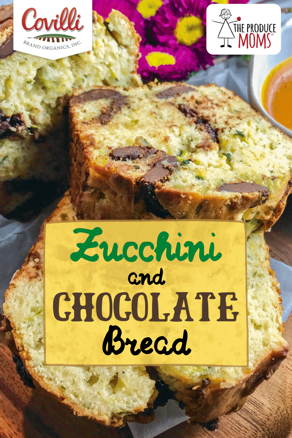 Zucchini and Chocolate Bread Pinterest Card