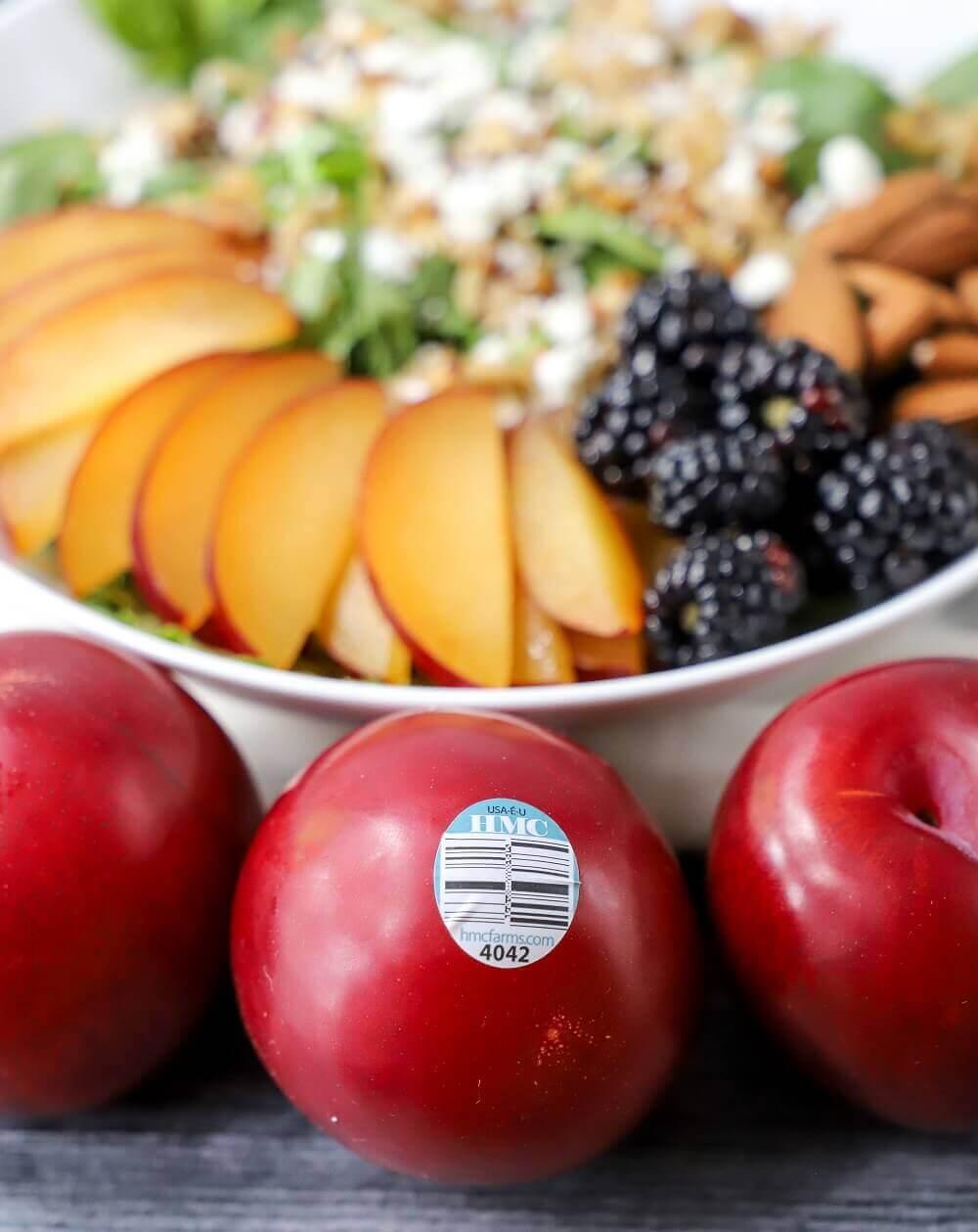 Plum and Blackberry Grain Salad