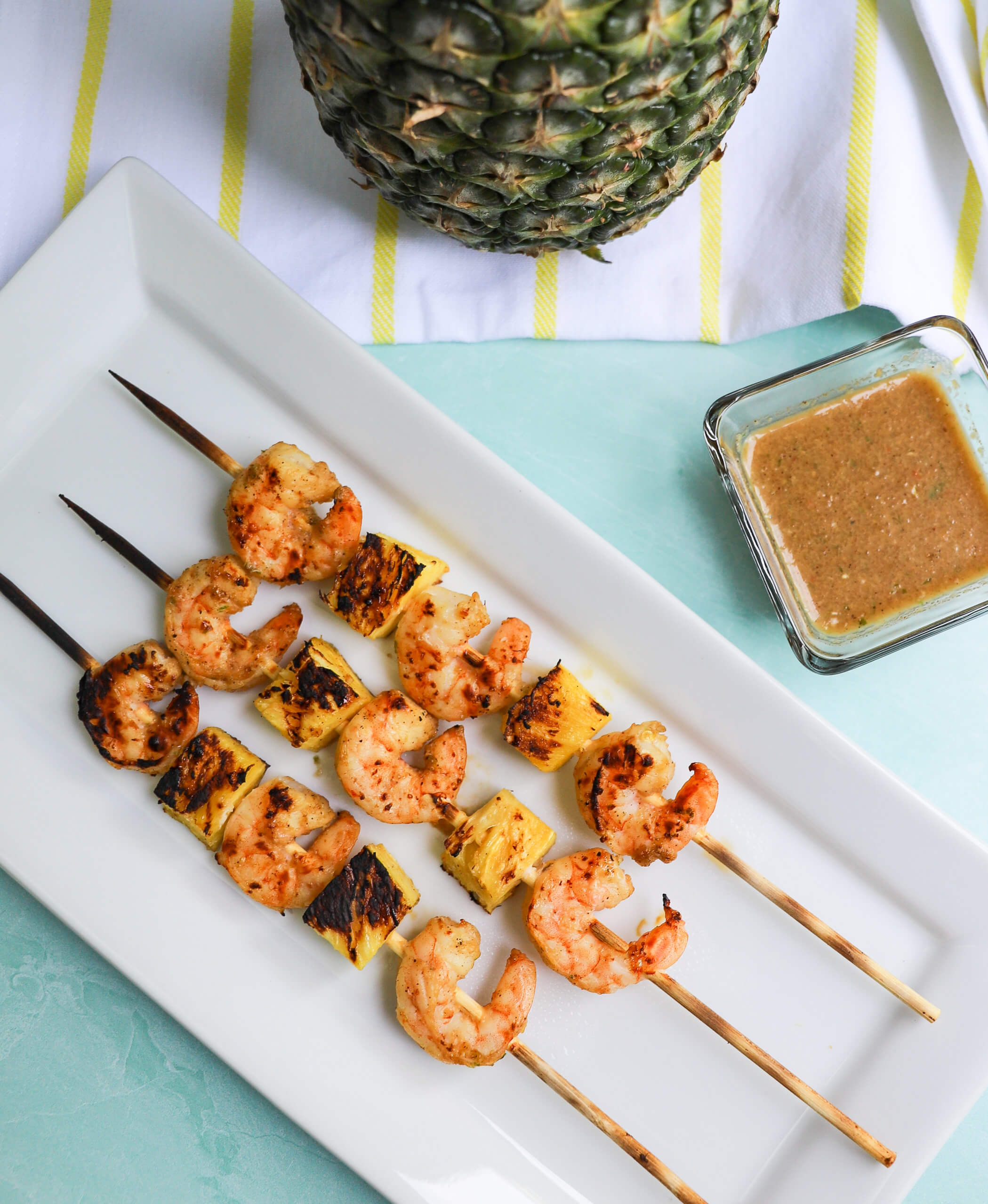 Grilled Jerk Shrimp and Pineapple Kabobs