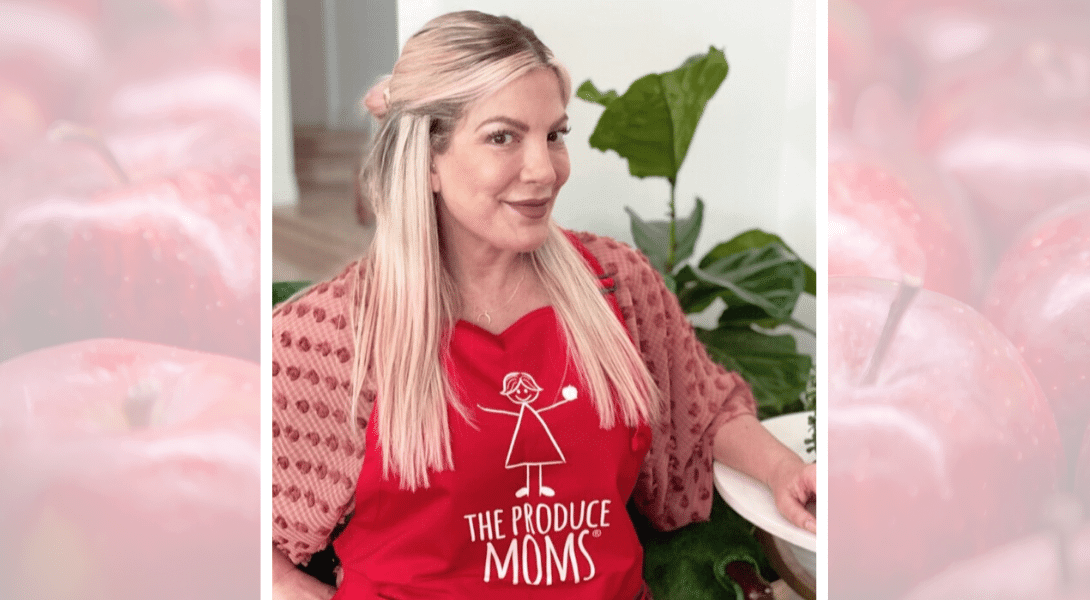 90210 Alum Tori Spelling Joins The Produce Moms Community