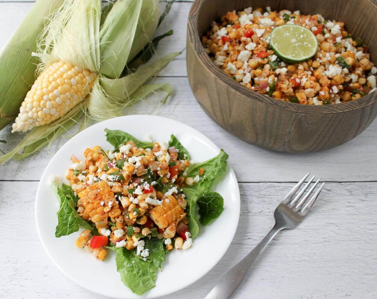 Elote Salad, or Mexican Street Corn Salad