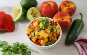 Poolside Peach Salsa