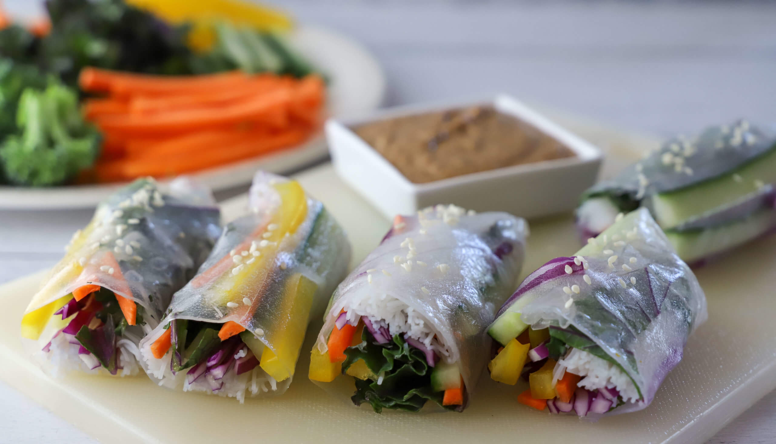 Salad Rolls with Walnut Dipping Sauce