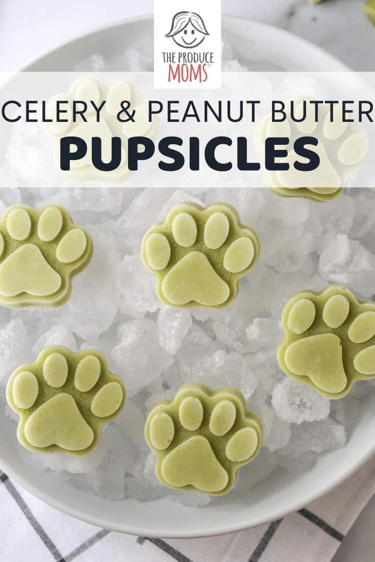 Celery and Peanut Butter Pupsicles