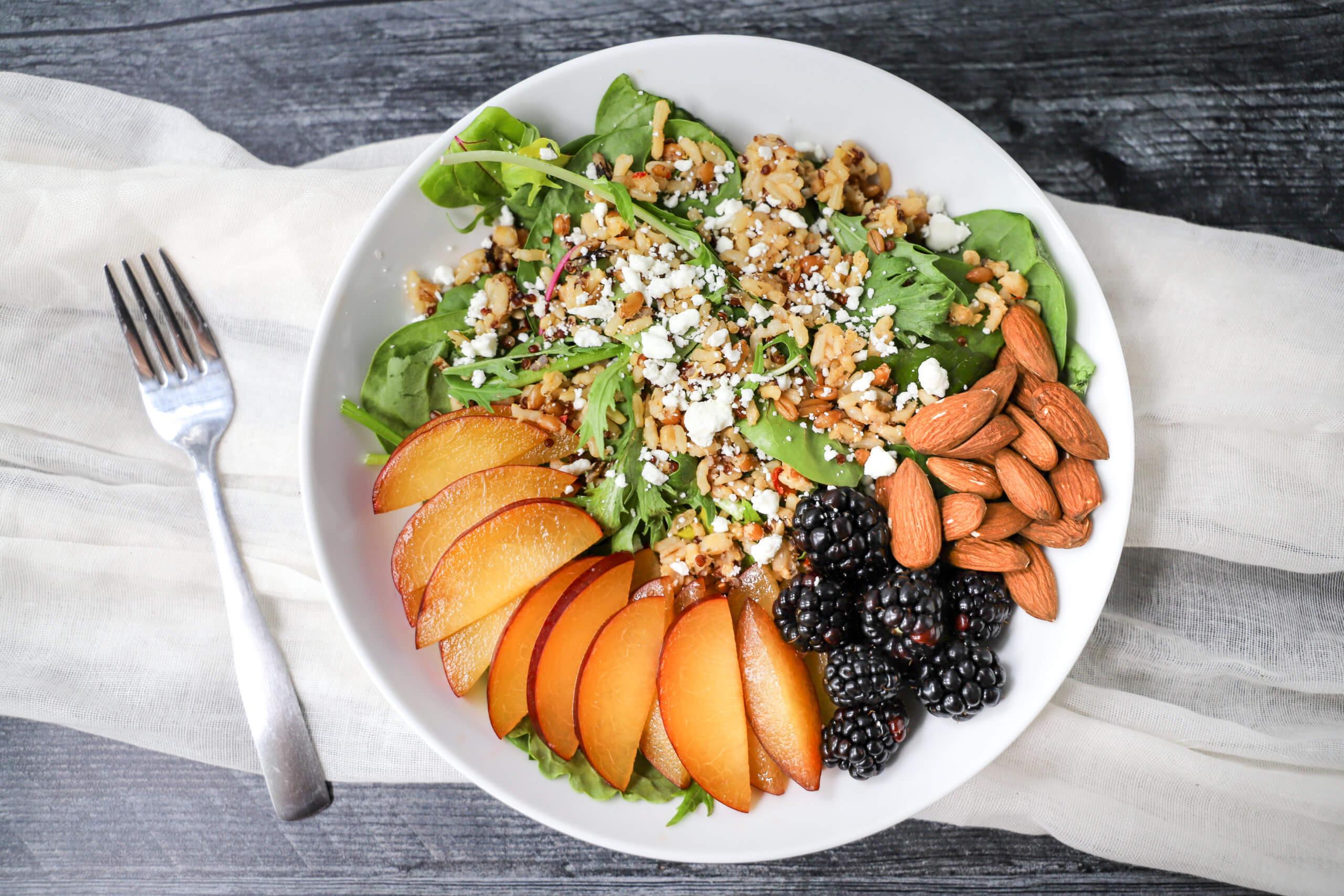 Plum & Blackberry Grain Salad