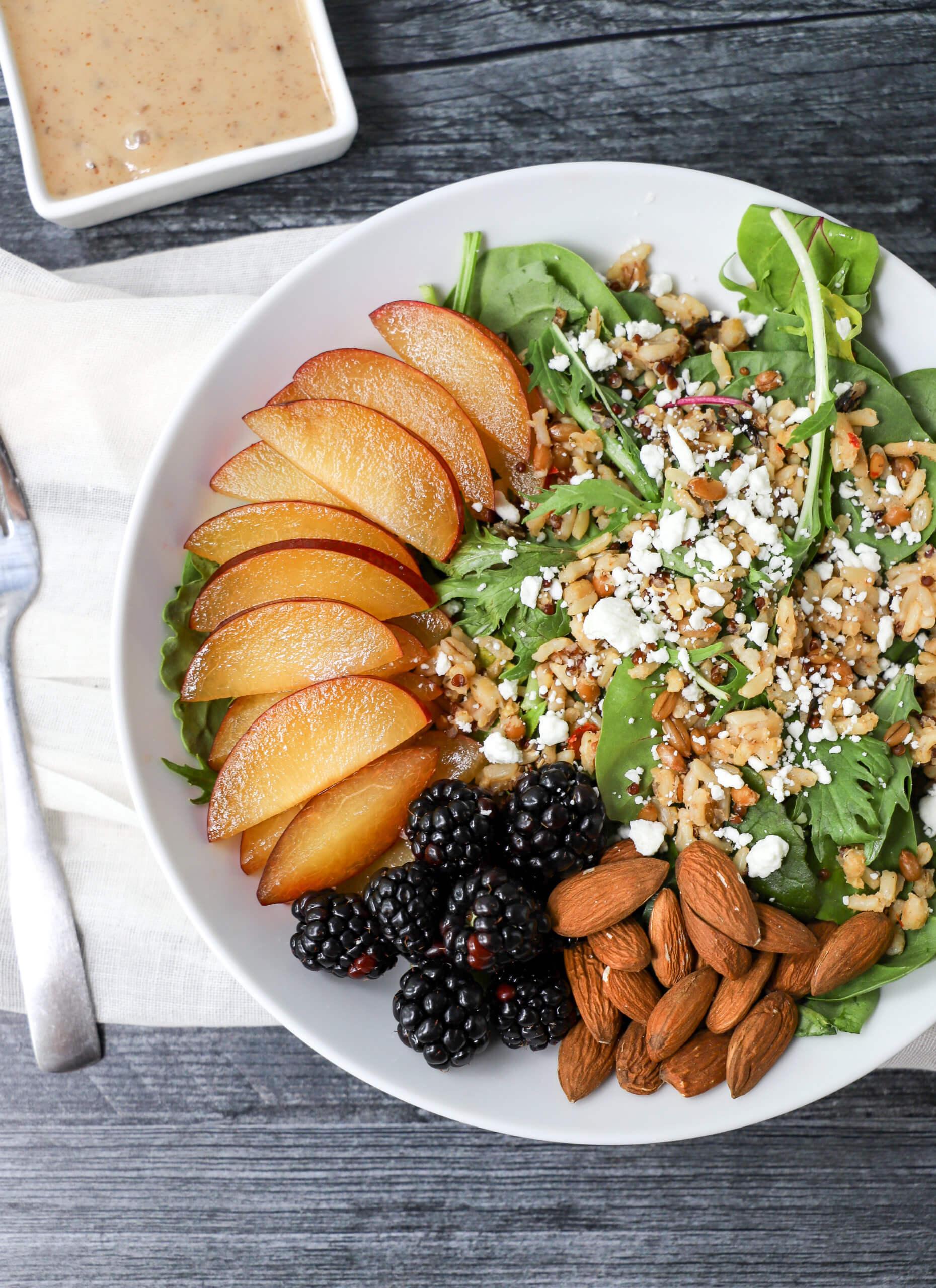 Plum and Blackbery Grain Salad