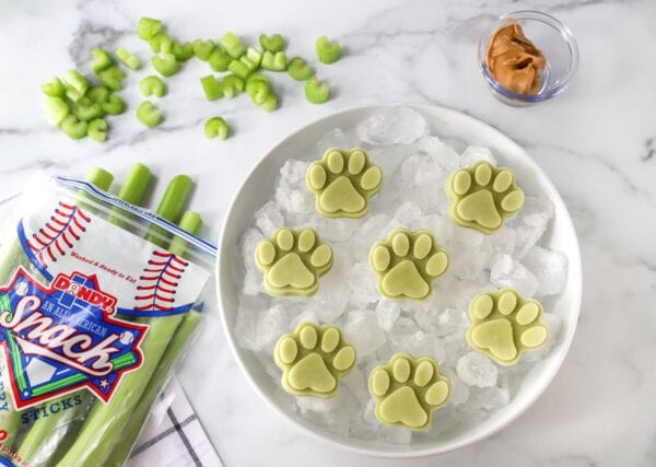 Celery and Peanut Butter Dog Treats Banner Image