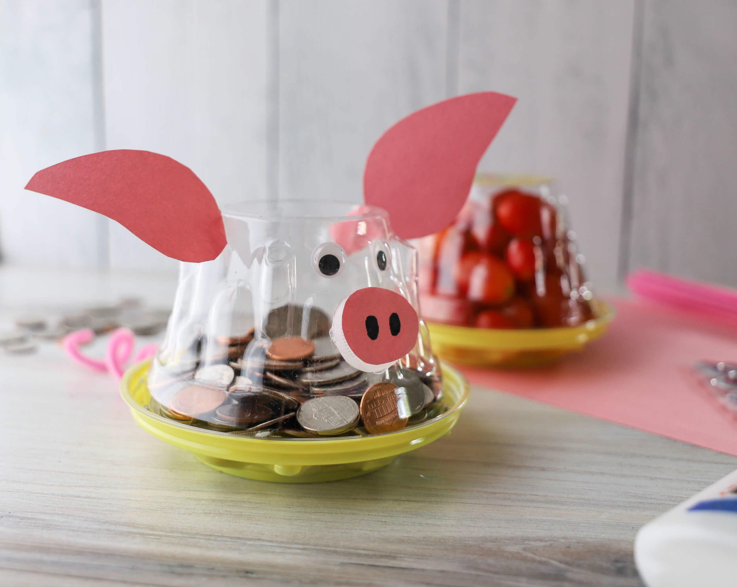 Summer Craft Ideas Using NatureSweet Tomato Containers: Piggy Bank DIY