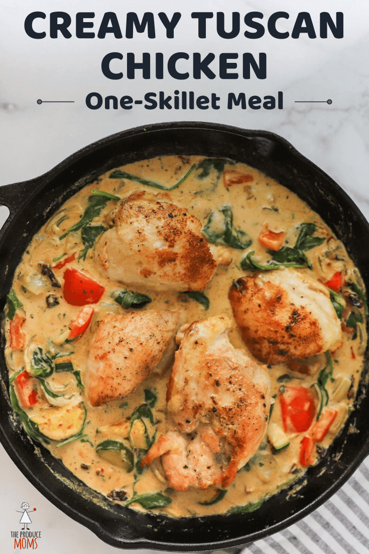 One-Skillet Meal: Creamy Tuscan Chicken