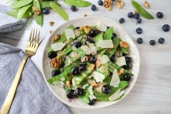 Warm Blueberry and Snow Pea Salad +  North Bay Produce Sweepstakes
