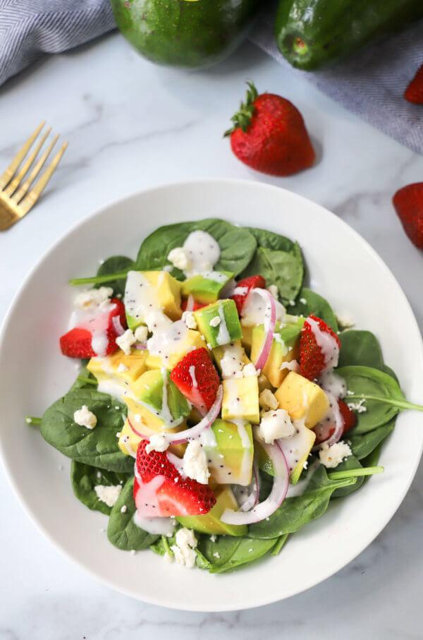 Tropical Avocado and Strawberry Salad