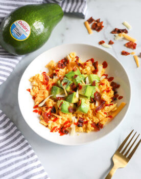 Breakfast Salad with Tropical Avocado
