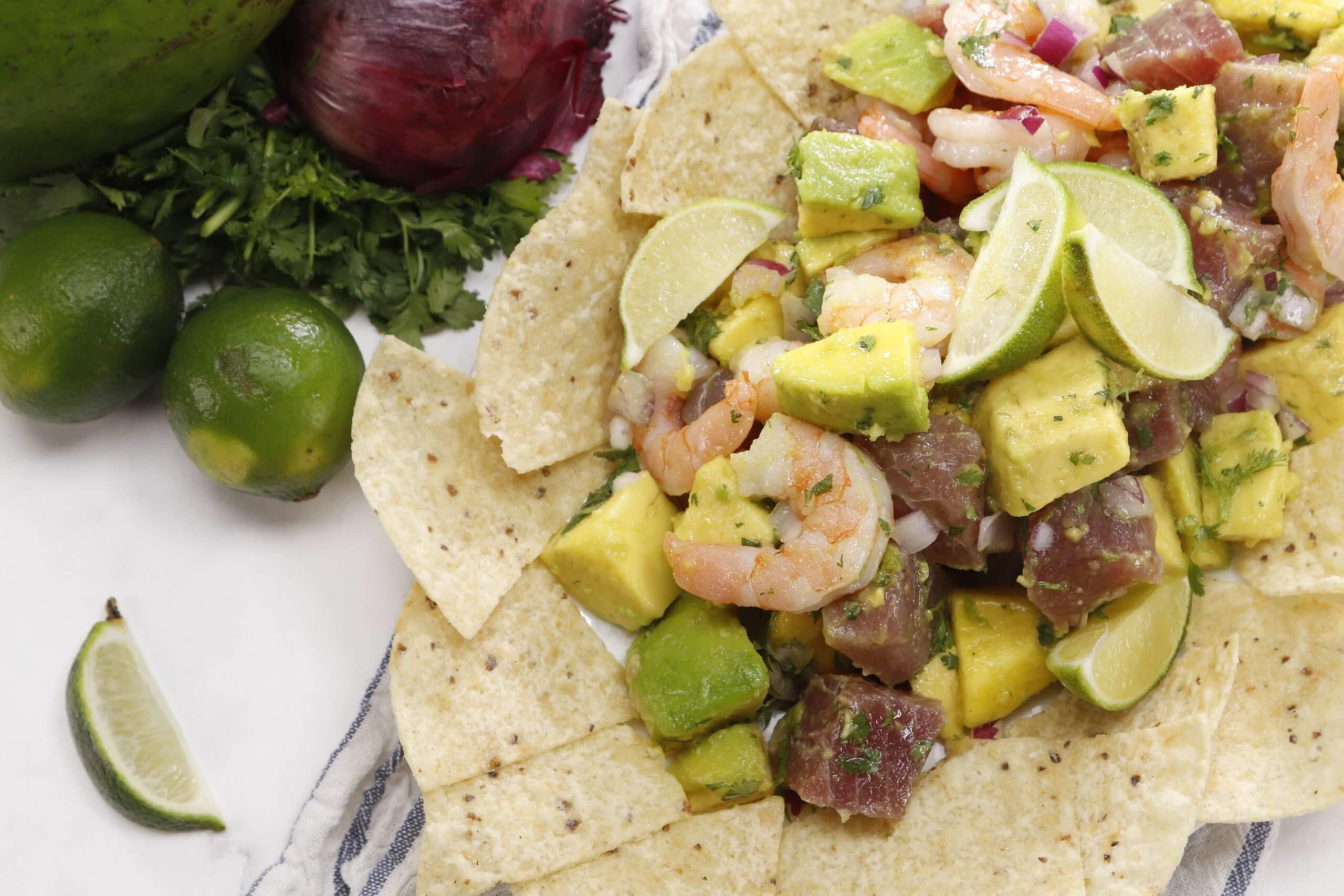 Chef Willy's Tropical Avocado Ceviche Salad