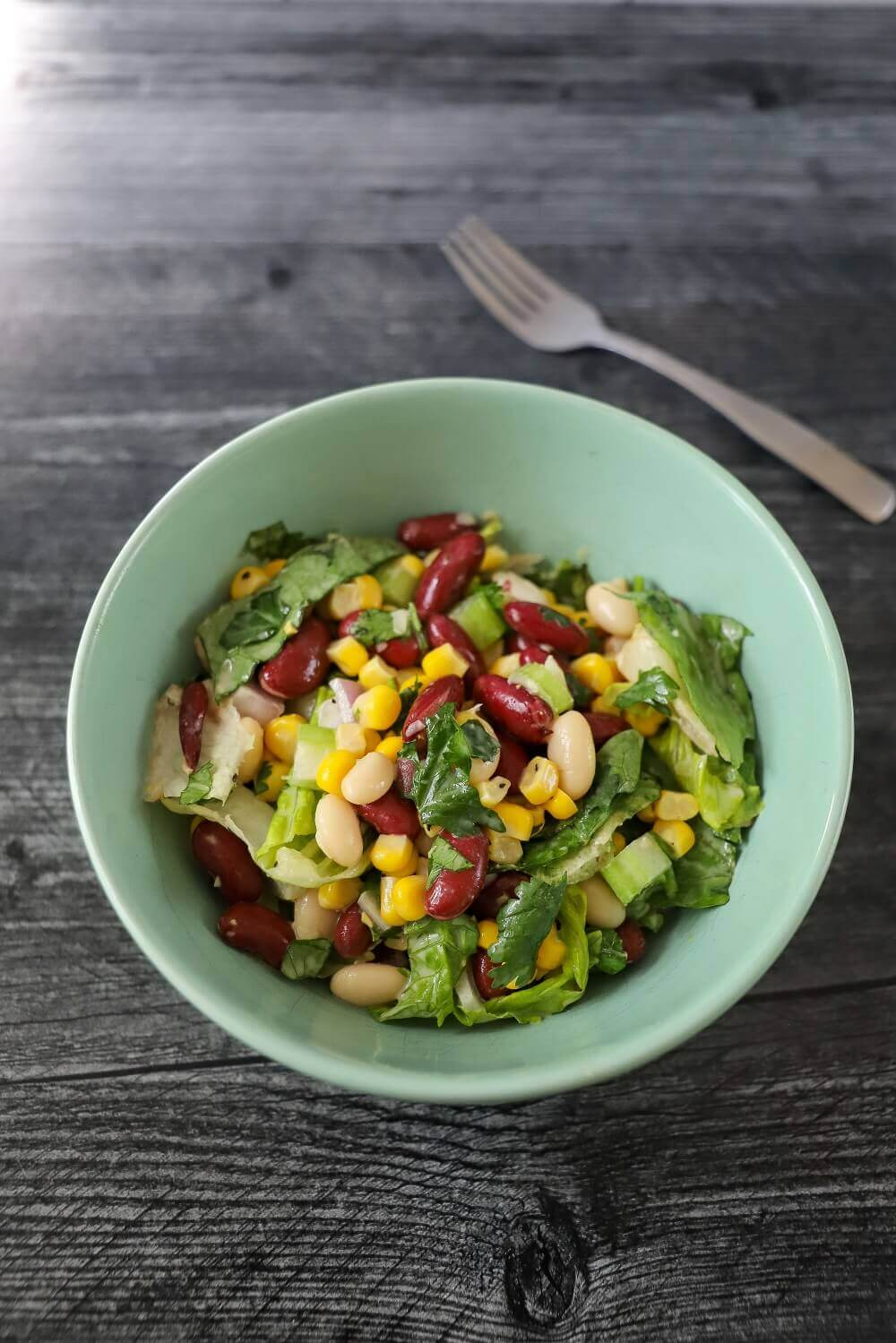 Mixed Bean Chopped Salad - a nutritious meal!