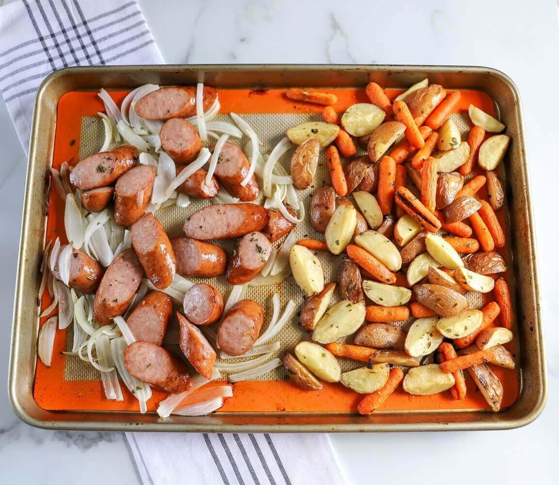 Sausage and Potato Sheet Pan