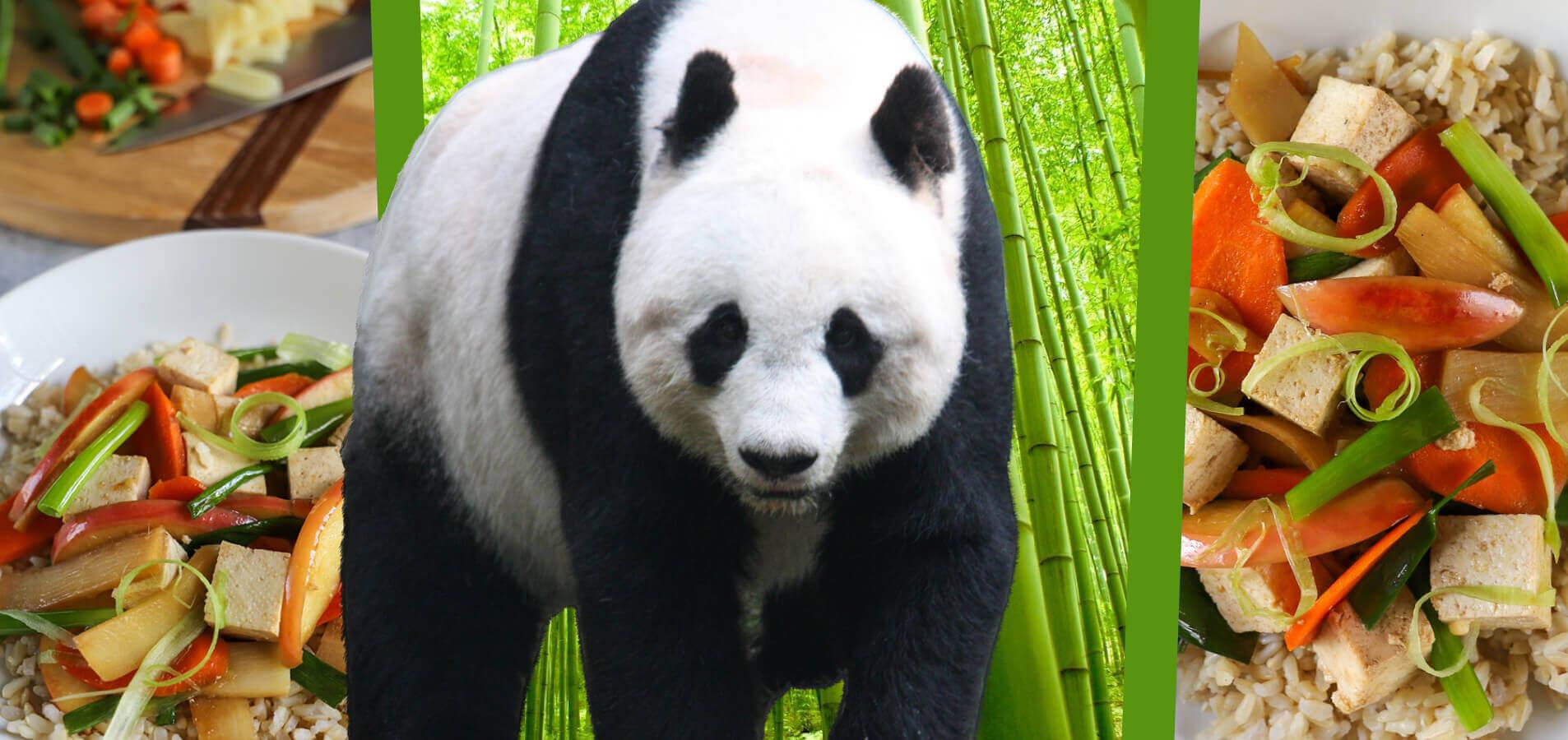 Eat Like a Giant Panda: Apple and Bamboo Stir Fry