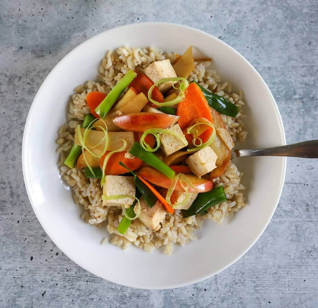 Apple and Bamboo Stir Fry