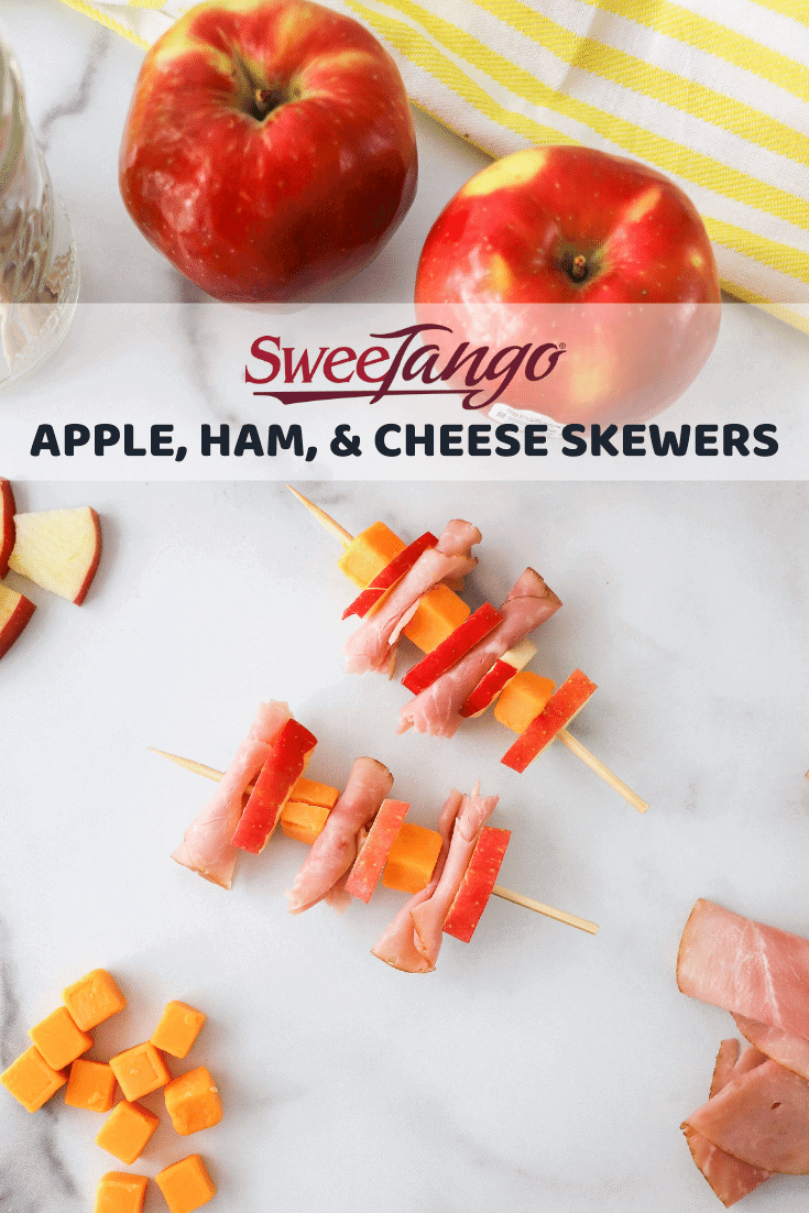 SweeTango Apple, Ham, and Cheese Skewers